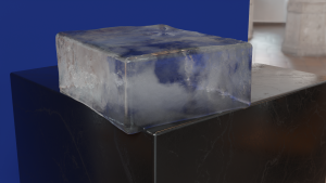 Ice Blocking made following Grant Warwick Mastering V-Ray tutorial with Blender & Luxcore.